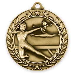 "1 3/4"" Female Gymnastics Medal"