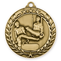 "1 3/4"" Male Gymnastics Medal"
