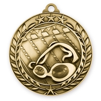 "1 3/4"" Swimming Medal"