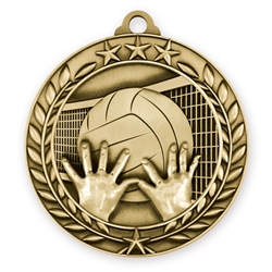 "1 3/4"" Volleyball Medal"