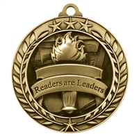 "1 3/4"" Readers are Leaders Medal"