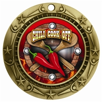 "3"" WCM Full Color Chili Cook Off Medal"
