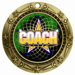 "3"" WCM Full Color Coach Medal"
