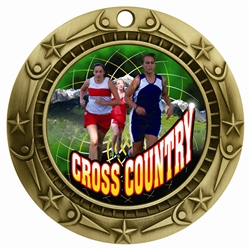 "3"" WCM Full Color Female Cross Country Medal"