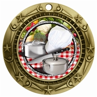 "3"" WCM Full Color Cooking Medal"
