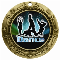 "3"" WCM Full Color Modern Dance Medal"