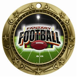 "3"" WCM Full Color Fantasy Football Medal"