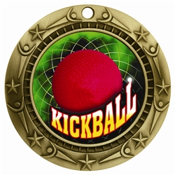 "3"" WCM Full Color Kickball Medal"