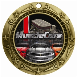 "3"" WCM Full Color Muscle Cars Medal WCMB-FCL517"