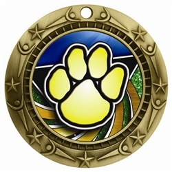 "3"" WCM Full Color Paw Medal WCMB-FCL523"