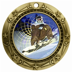 "3"" WCM Full Color Snow Boarding Medal WCMB-FCL538"