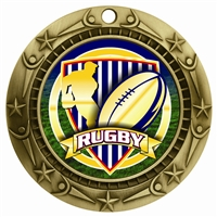 "3"" WCM Full Color Rugby Medal WCMB-FCL539"