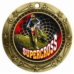 "3"" WCM Full Color Supercross Medal WCMB-FCL559"