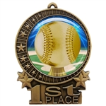 "3"" Baseball Medal with Epoxy Dome XMD-D05"