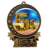 "3"" 5K Medal with Epoxy Dome XMD-D06"