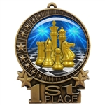 "3"" Chess Medal with Epoxy Dome XMD-D17"
