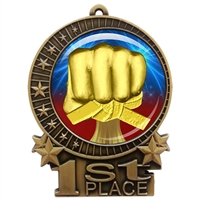"3"" Martial Arts Medal with Epoxy Dome XMD-D25"