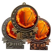 Flame Basketball Medal