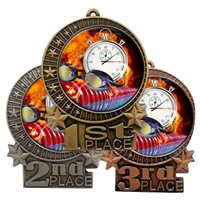 Flame Swimming Medal