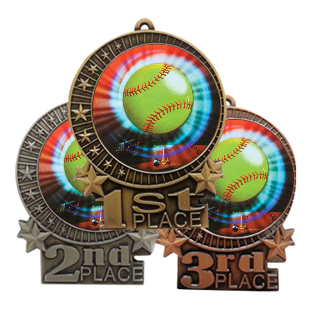 "3"" Softball Medal"