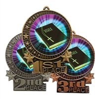 "3"" Holy Bible Medal"