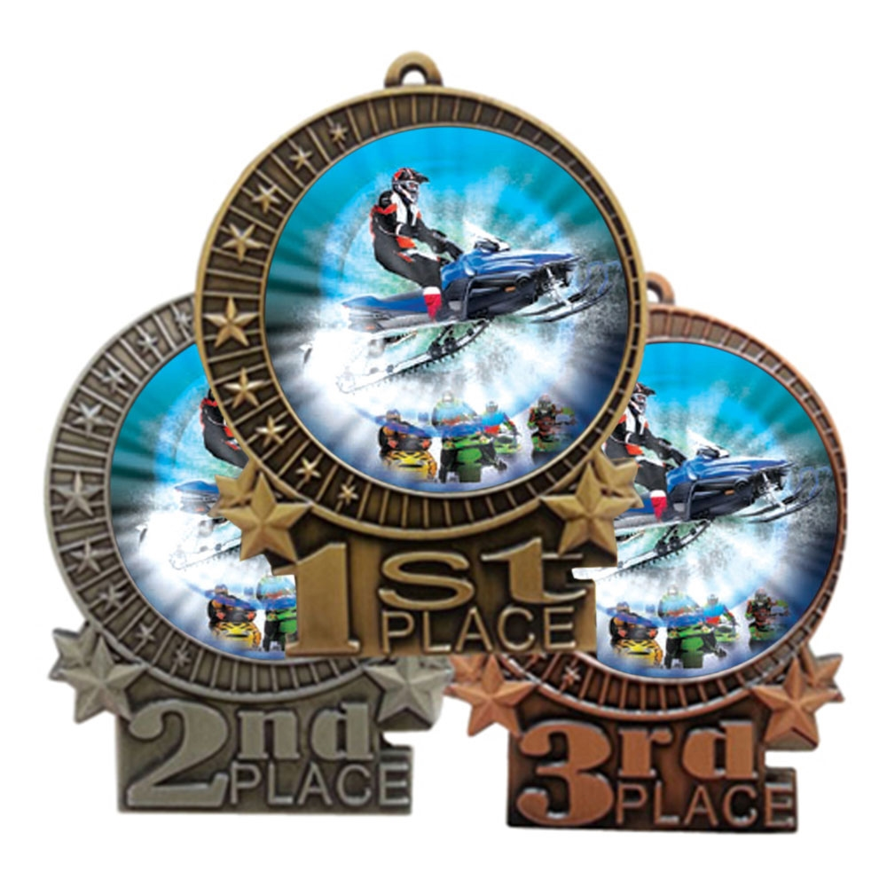"3"" Snow Mobile Medal"