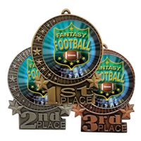 "3"" Fantasy Football Medal"