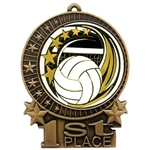 "3"" Elegance Volleyball Medals XMD700-ED655"