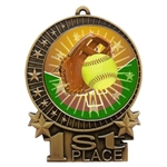 "3"" Full Color Softball Medals"