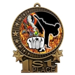 "3"" Full Color Martial Arts Medals"