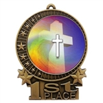 "3"" Full Color Religious School Medals"