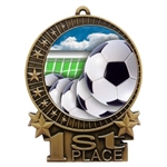 "3"" Full Color Soccer Team Medals"