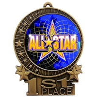 "3"" Full Color All Star Medals"