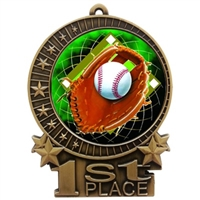 "3"" Full Color Baseball Medals"