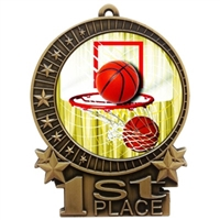 "3"" Full Color Basketball Medals"
