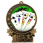 "3"" Full Color Poker Cards Medals"