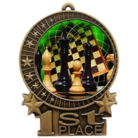 "3"" Full Color Chess Medals"