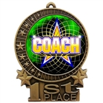 "3"" Full Color Coach Medals"