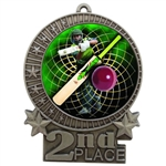 "3"" Full Color Cricket Medals"