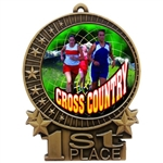"3"" Full Color Women Cross Country Medals"
