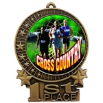 "3"" Full Color Men Cross Country Medals"