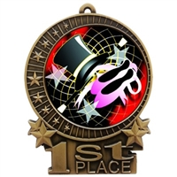 "3"" Full Color Modern Dance Medals"