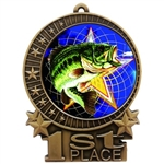 "3"" Full Color Fishing Medals"