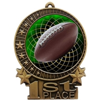 "3"" Full Color Football Medals"