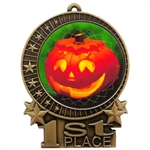 "3"" Full Color Halloween Pumpkin Medals"