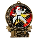 "3"" Full Color Martial Arts Karate Medals"