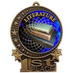 "3"" Full Color Literature Reading Medals"