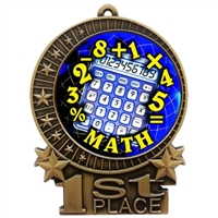 "3"" Full Color Math Medals"