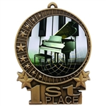 "3"" Full Color Piano Recital Medals"