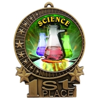"3"" Full Color Science Fair Medals"